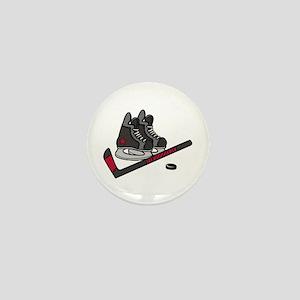 Hockey Skates Mini Button
