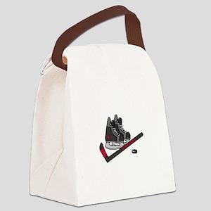 Hockey Skates Canvas Lunch Bag