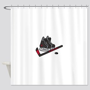 Hockey Skates Shower Curtain