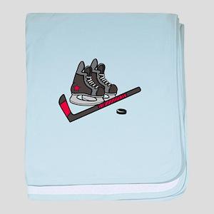 Hockey Skates baby blanket