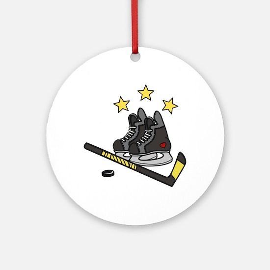 Ice Hockey Ornament (Round)