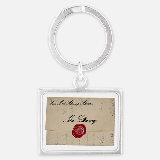 Mr Darcy Love Letter Landscape Keychain