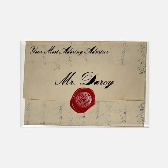 Mr Darcy Love Letter Rectangle Magnet