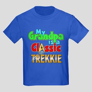 Classic Trekkie Grandpa Kids Dark T-Shirt
