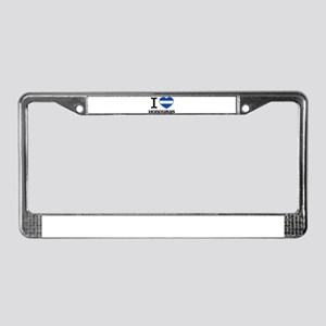 I love Honduras License Plate Frame