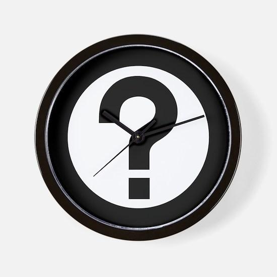 Question Mark Icon Wall Clock
