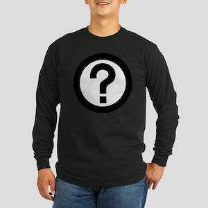 Question Mark Icon Long Sleeve Dark T-Shirt