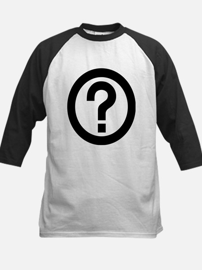Question Mark Icon Kids Baseball Jersey