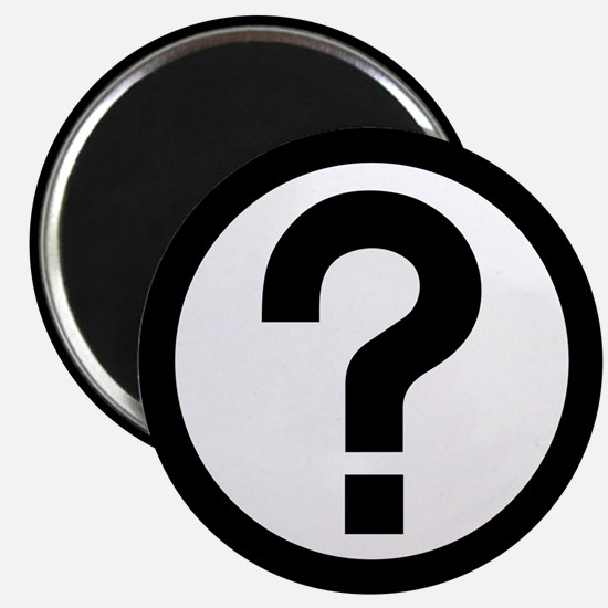 """Question Mark Icon 2.25"""" Magnet (10 pack)"""