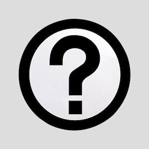 """Question Mark Icon 3.5"""" Button"""