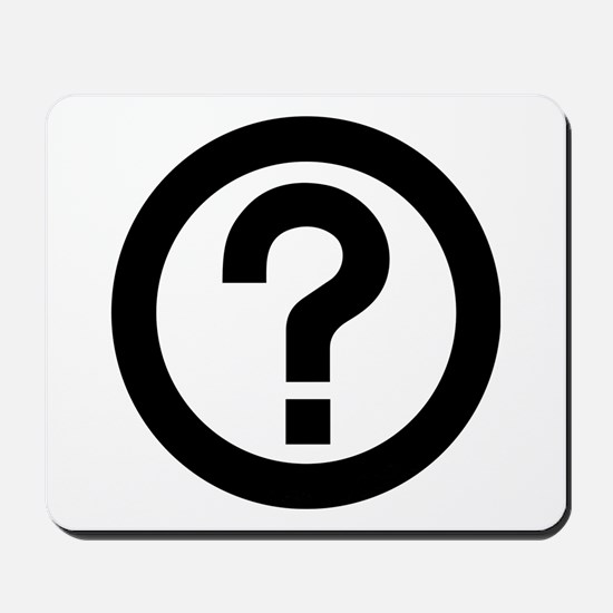 Question Mark Icon Mousepad
