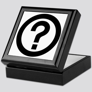 Question Mark Icon Keepsake Box