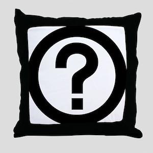 Question Mark Icon Throw Pillow