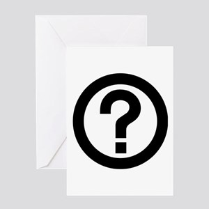 Question mark greeting cards cafepress question mark icon greeting card m4hsunfo