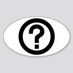 Question Mark Icon Sticker (Oval)