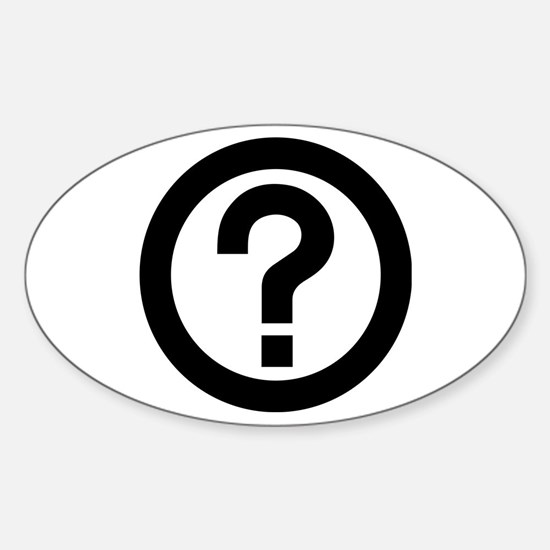 Question Mark Icon Sticker (Oval)