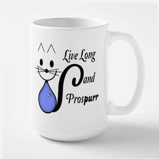 Vulcan Greeting Kitty Large Mug
