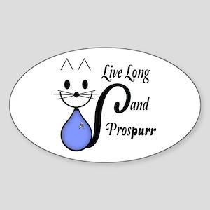 Vulcan Greeting Kitty Sticker (Oval)
