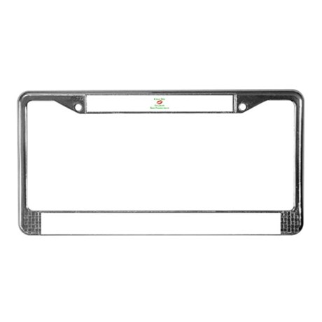 Kiss Me I'm from San Francisc License Plate Frame