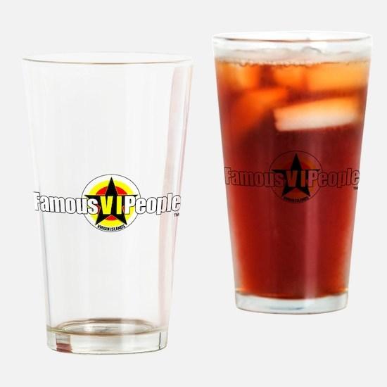 FamousVIPeople Logo Drinking Glass