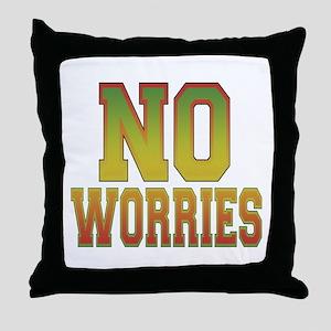 No Worries Throw Pillow