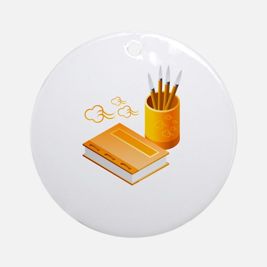 Letter Opener Writing Book Ornament (Round)