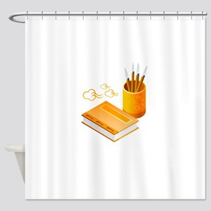 Letter Opener Writing Book Shower Curtain