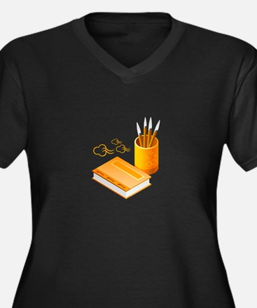 Letter Opener Writing Book Plus Size T-Shirt
