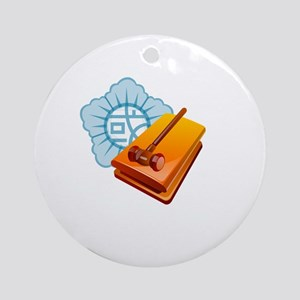 Lawyer Hammer Law Ornament (Round)