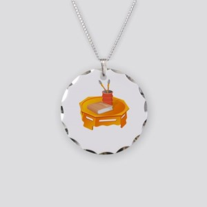 Table School Book Painting Brush Necklace