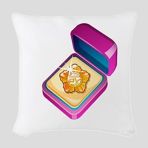 Diamond Ring Jewelry Woven Throw Pillow