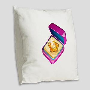 Diamond Ring Jewelry Burlap Throw Pillow