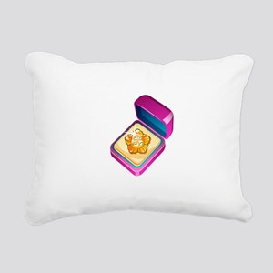 Diamond Ring Jewelry Rectangular Canvas Pillow