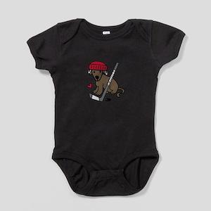 Hockey Dog Baby Bodysuit