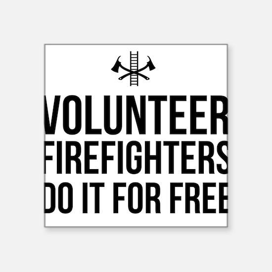 Volunteer firefighters free Sticker