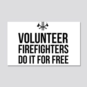 Volunteer firefighters free Wall Decal