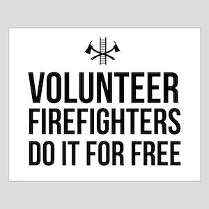 Volunteer firefighters free Posters