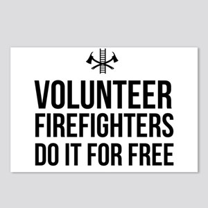 Volunteer firefighters free Postcards (Package of