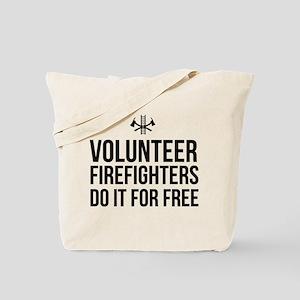 Volunteer firefighters free Tote Bag