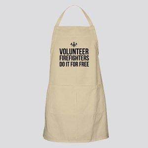 Volunteer firefighters free Apron