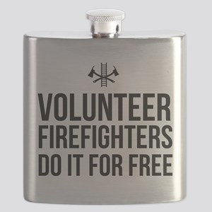 Volunteer firefighters free Flask