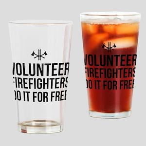 Volunteer firefighters free Drinking Glass