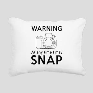 Warning may snap photographer Rectangular Canvas P