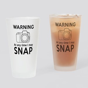 Warning may snap photographer Drinking Glass