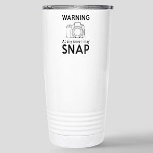 Warning may snap photographer Travel Mug