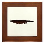 Sea Otter Swimming 2 Framed Tile