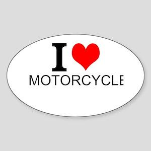 I Love Motorcycles Sticker