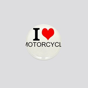 I Love Motorcycles Mini Button