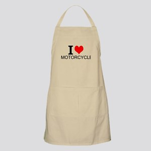 I Love Motorcycles Apron