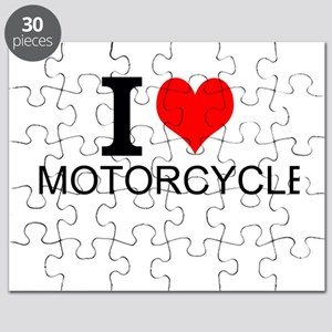 I Love Motorcycles Puzzle